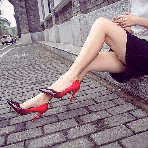 vernice alto centimetri con a di e in pelle donne carriera luce scarpe tacco scarpe punta di 37 di di belle singole 6 Gradiente alla donne scarpe donne scarpe in Blu RtxqwARC