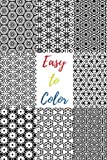Easy to Color: 60 Beautiful Black & White