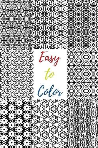 Amazon Com Easy To Color 60 Beautiful Black White