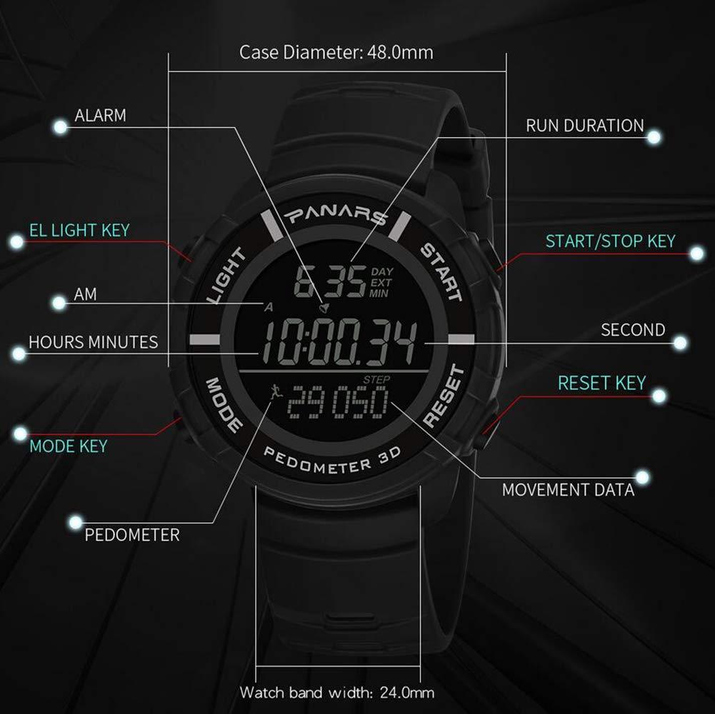 Reloj De Natación Multifunción Impermeable 50M 3D Paso A ...