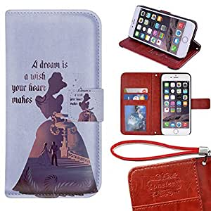 iPhone 6 Plus Wallet Case[5.5 inch], TwoDee - Disney Princess Cinderella Premium PU Leather Case Wallet Flip Stand Case Cover for iPhone 6 Plus with Card Slots