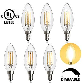 Amazon.com : LED Candelabra Bulb, 40-Watt Light Bulbs Equivalent ...