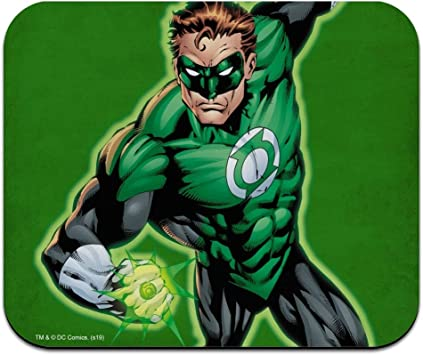 Green Lantern Green Lantern Icons Logo Low Profile Thin Mouse Pad Mousepad