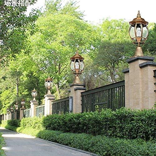 Aluminio fundido Paisaje exterior Farola Farola Retro Columna retro Columna Luz Villa europea Jardín Patio Camino Accesorio de iluminación en bronce Acabado E27 (Tamaño: 22 * 55CM)