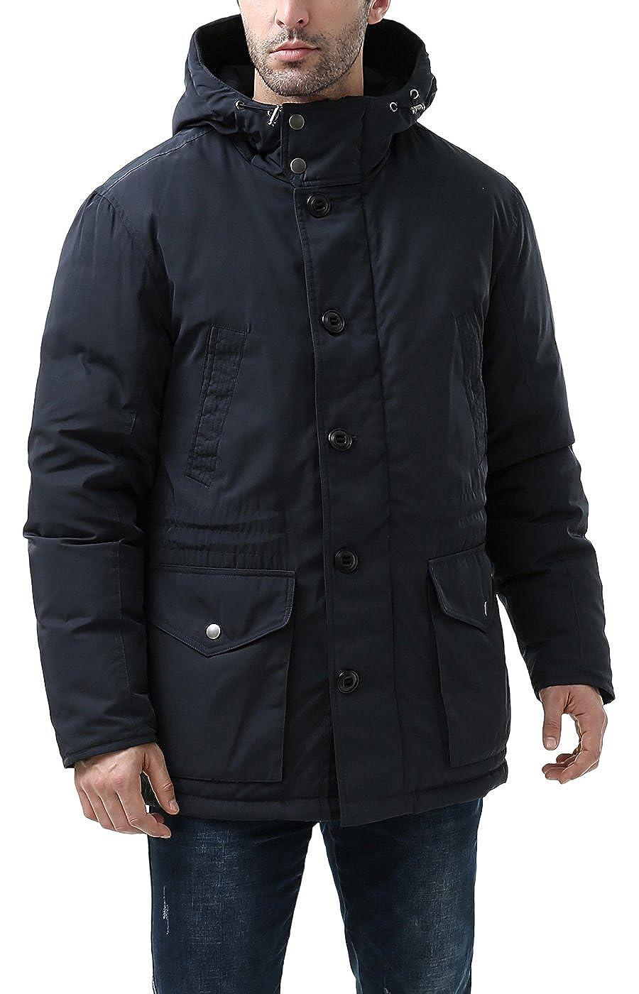 c33ce6faa BGSD Men's Tommy Hooded Waterproof Down Parka Coat