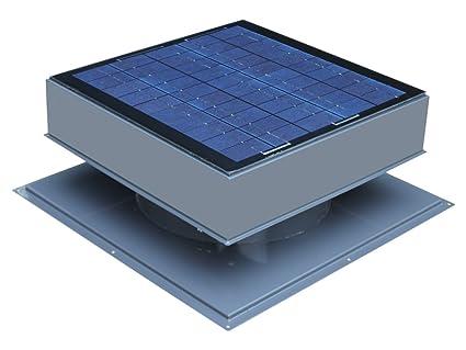 Solar ventilador de ático, para techo 30 W, gris