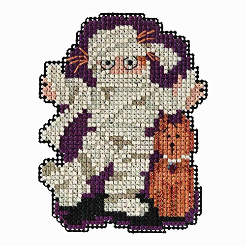 Mill Hill Mummy Beaded Counted Cross Stitch Halloween Ornament Kit 2018 Autumn Harvest MH181825]()
