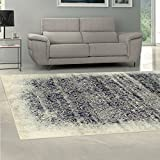 Superior Quality Soft, Plush and Durable 10mm Moisture and Mildew Resistant Apollonia Collection Area Rug, 8′ x 10′ Navy Blue