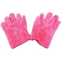 Hair Drying Gloves - Pink Shag Microfiber, 100% Polyester, Kingsley SP-21.