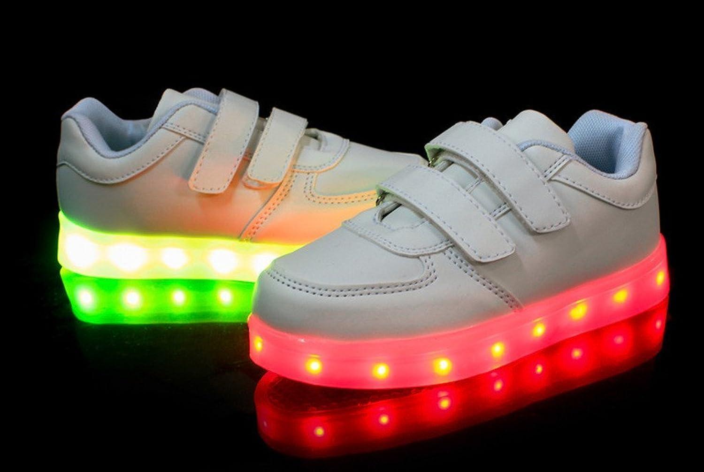 Unisexe Enfants Garçons Filles Chaussures USB Charge LED Lumière Lumineux  Fluorescence Clignotants Chaussures de Sports Baskets bf833ae7fc7