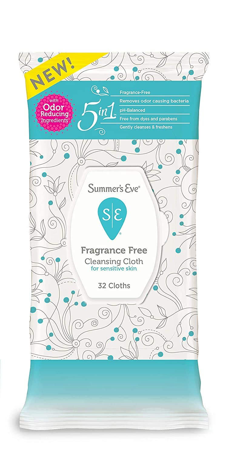 Summer's Eve Cleansing Cloths, Fragrance Free, pH-balanced, 32 Count