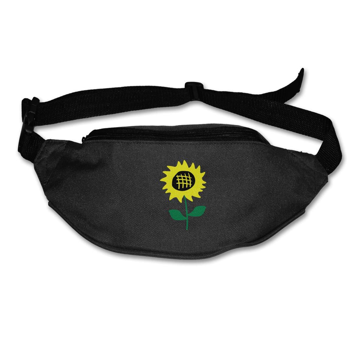 Sunflower Clipart Sport Waist Pack Fanny Pack Adjustable For Travel
