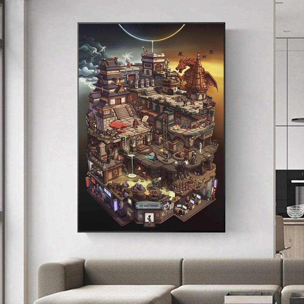 Convergence Canvas Art Poster and Wall Art Picture Print Modern Family Bedroom Decor (24x32 inch,Framed)