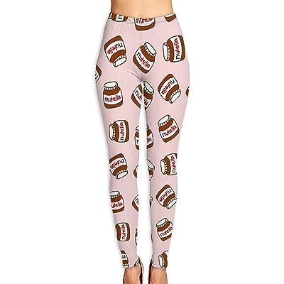 Abusss Pantalons Yoga de Tela Deportivos de Cintura Alta Pantalones de Womens Leggings Nutella Pattern Popular Sport Workout Fashion Yoga Pants: Ropa y accesorios