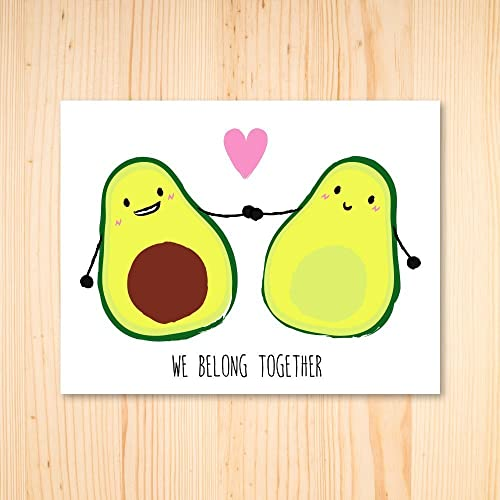 amazon com funny avocado card cute card avocado pun we belong