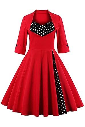 Babyonline Sommer Damen Polka Dots Kleider Vintagekleid Rockabilly ...