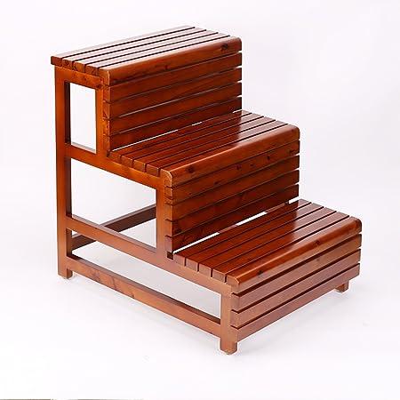 Muebles de baño Taburetes Taburete de madera maciza anti-corrosión de doble escalera impermeable Taburete de ducha doble de baño Bañera taburete de tres niveles Taburete alto de baño de niños: Amazon.es: Hogar