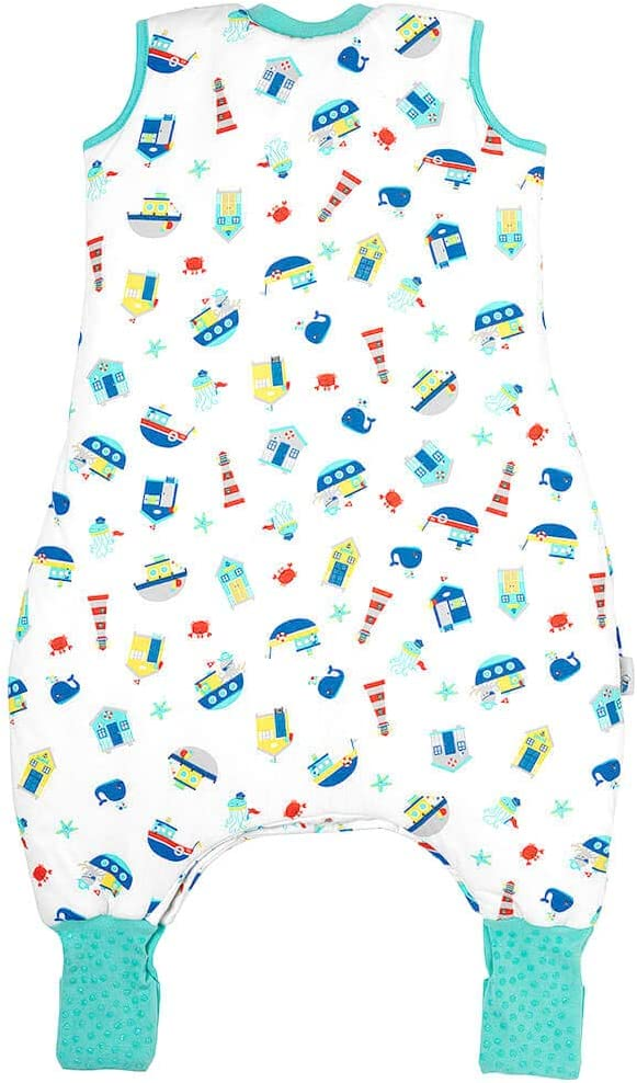 Cars Blue Stripes Slumbersac Summer Baby Sleeping Bag with Feet and Poppers and Non-Slip Soles 1.0 Tog 12-18 months//70cm