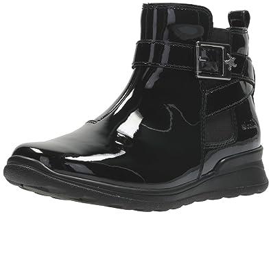 Clarks Mariel Sky Girls Infant Ankle Boots 10 F Black Patent