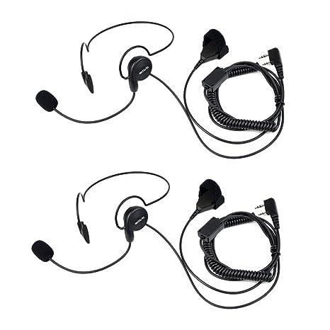 2 Pin Mic Earpiece Headset Finger PTT For Baofeng UV5R 888s Radio Walkie Talkie