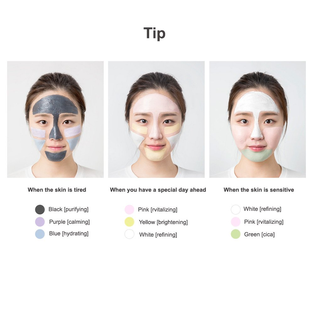 Innisfree Jeju Volcanic Color Clay Mask Green Cica Refining 70ml Beauty