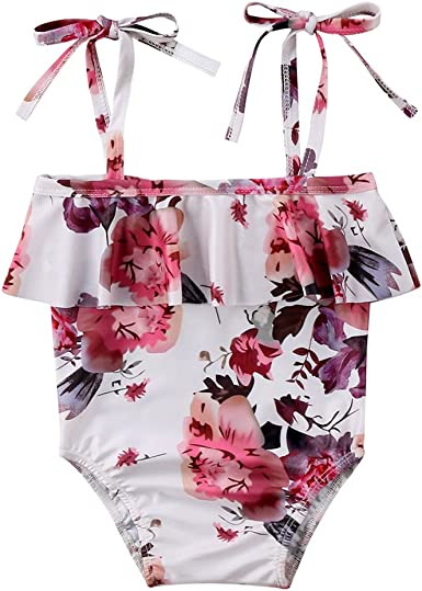 Baby Girl Leaf Printing Swimsuit Bikini Infant Girl Halter one//Two-Piece Bathing Suit