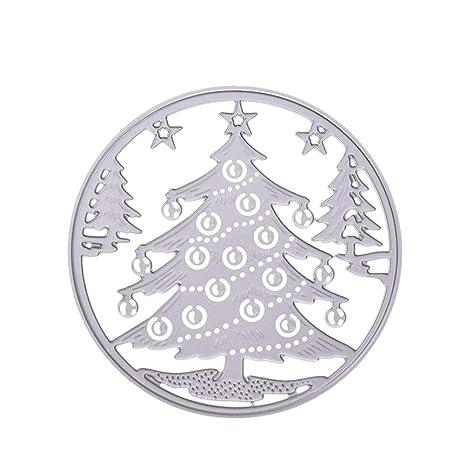 SUPVOX Troquelado Árboles de Navidad Forma Plantilla de plantilla de metal Molde para DIY Álbum de