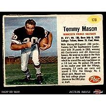 1962 Post # 178 Tommy Mason Minnesota Vikings (Football Card) Dean's Cards 2 - GOOD Vikings