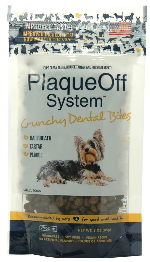 ProDen Plaque Off Crunchy Dental Bites for Small Dogs 3 Ounces by Proden