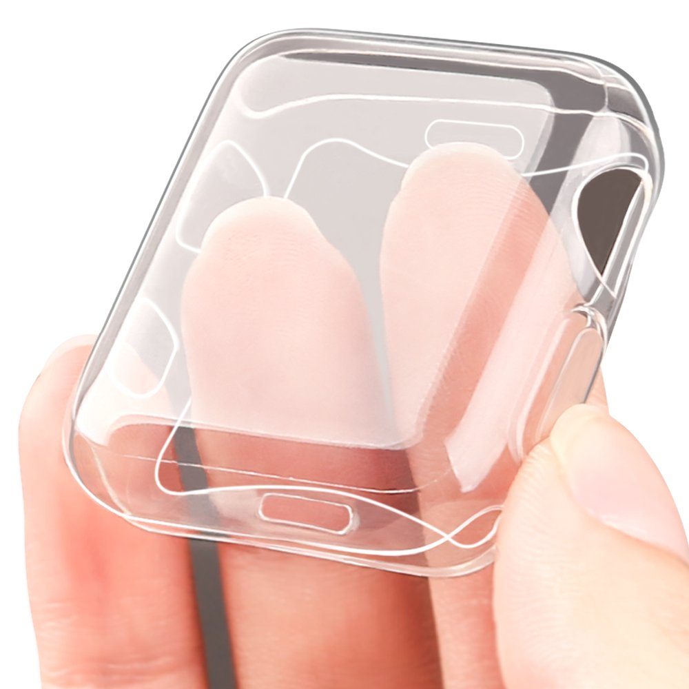 Marge Plus【2 Pack】Compatible with Apple Watch Screen Protector with Case 42mm, Soft TPU All-Around Ultra-Thin Clear Cover Compatible with Apple Watch Case Series 3, Series 2