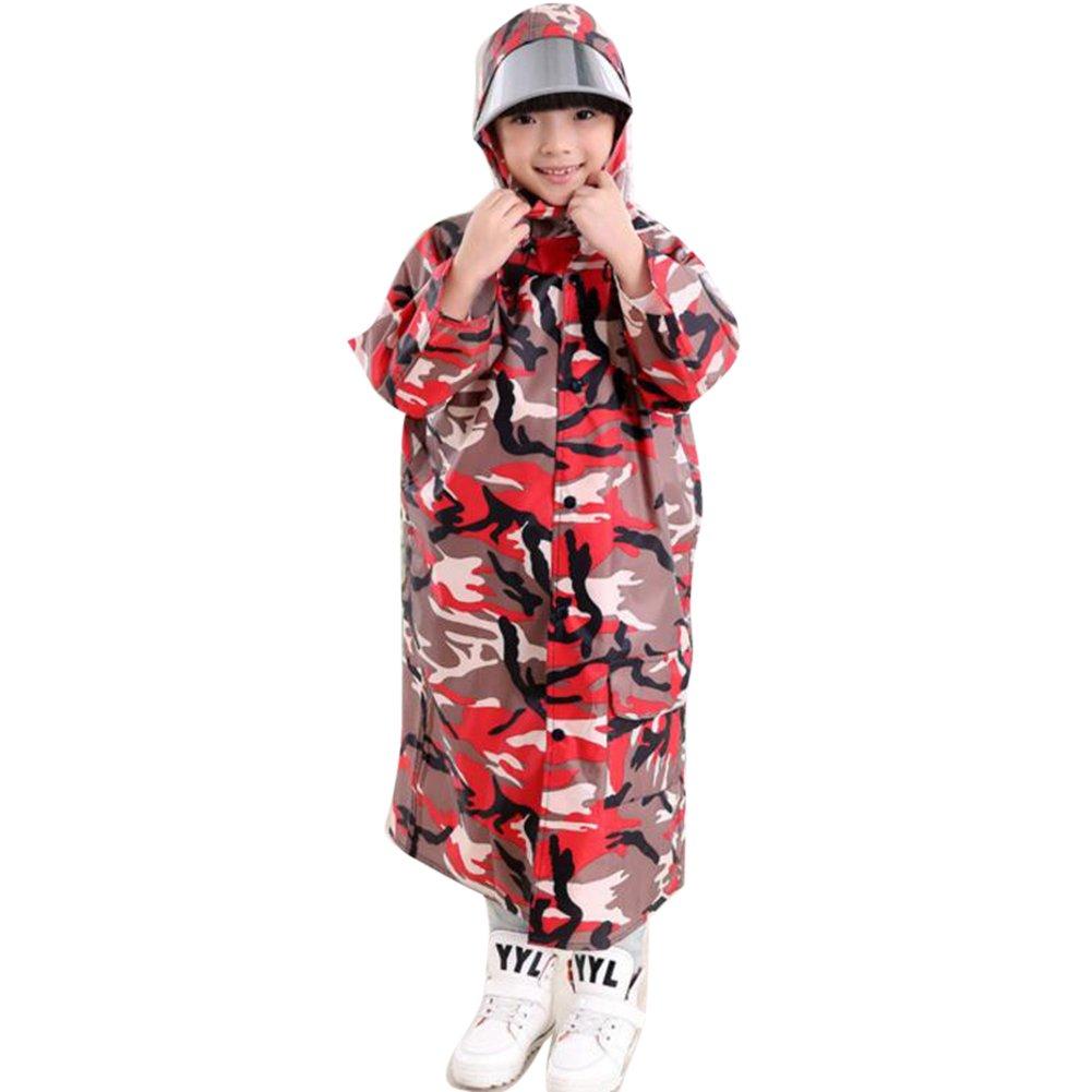 Deylay bambini Camouflage Poncho con grande cappello e zaino Luogo Bambino Raincoat (blu camuffamento) M / 3-5y Deylay Network Technology Ltd N160505MC-D06