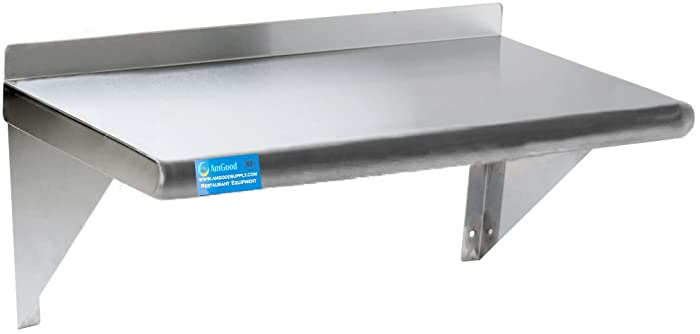 "12"" X 36"" Stainless Steel Wall Shelf 