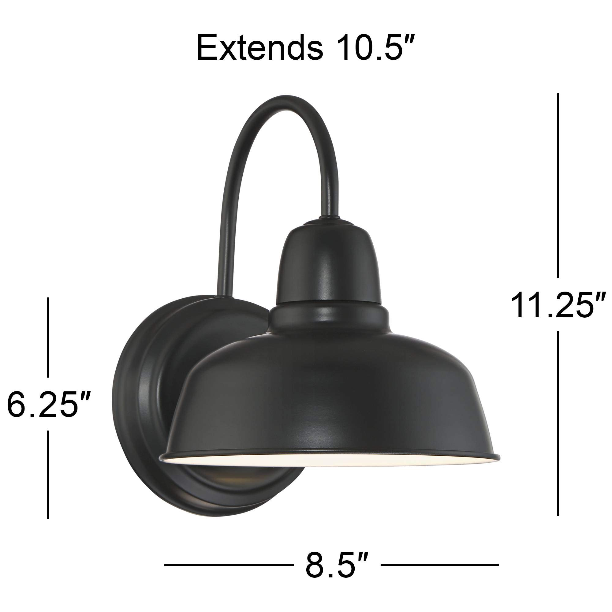 Urban Barn Rustic Outdoor Wall Light Fixture Farmhouse Black 11 1/4'' Sconce for Exterior House Deck Patio - John Timberland by John Timberland (Image #6)