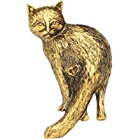 NEWEI Plated Alloy Antique Gold Sliver Cute Kitten Cat Brooch Pin for Women Girl Scarf Collar Pet Jewlery Charm Gift