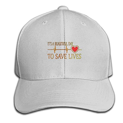 f817ab30 Its A Beautiful Day To Save Live Heartbeat Adjustable Baseball Caps  Unstructured Dad Hat 100%
