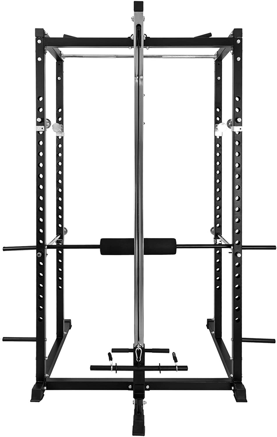 Popsport Power Rack Fitnes Strength Training Squat Rack Cage Bench Power Rack Cage Adjustable Bar for Fitness Muscle Building