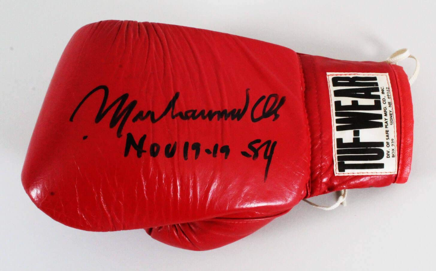 Muhammad Ali Signed Boxing Glove - COA - JSA Certified - Autographed Boxing Gloves Sports Memorabilia