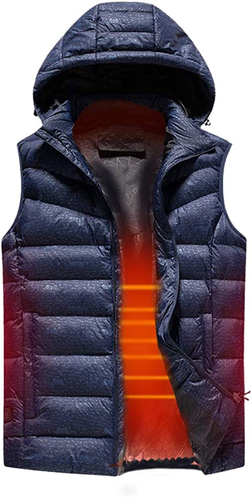 Cocobla 2019 Upgrade Electric Heated Vest Lightweight USB Rechagable Heating Warm Waistcoat Down Gilet[Battery NOT Included]