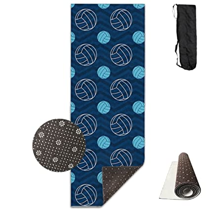 Amazon.com : Blue And Tan Chevron Volleyball Yoga Mat Towel ...