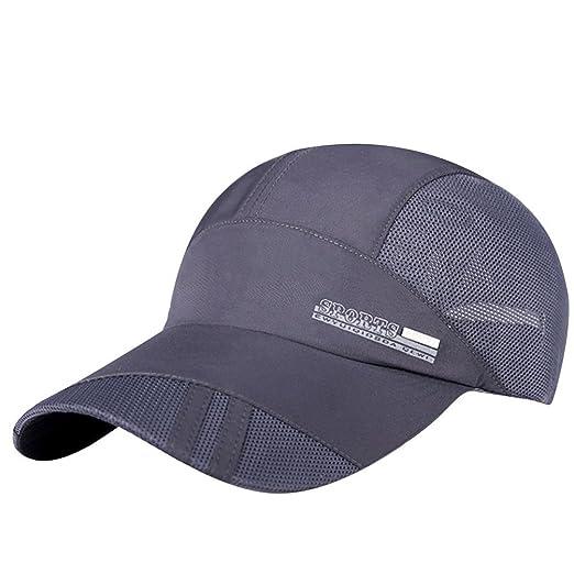 Summer Outdoor Sports Quick-Dry Collapsible Mesh Sun Hat Cotton Baseball  Cap Women Men (Gray) at Amazon Men s Clothing store  5313884ec61d