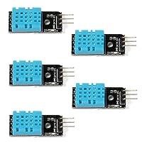 WINGONEER 5PCS di umidità di temperatura del modulo del sensore digitale DHT11 per Arduino Raspberry Pi 2 3