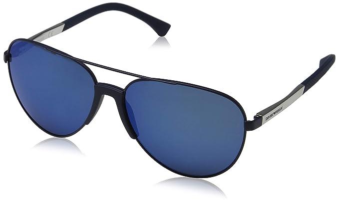 6d4391f9fead Emporio Armani Men s EA2059 EA 2059 3202 55 Matte Blue Pilot ...