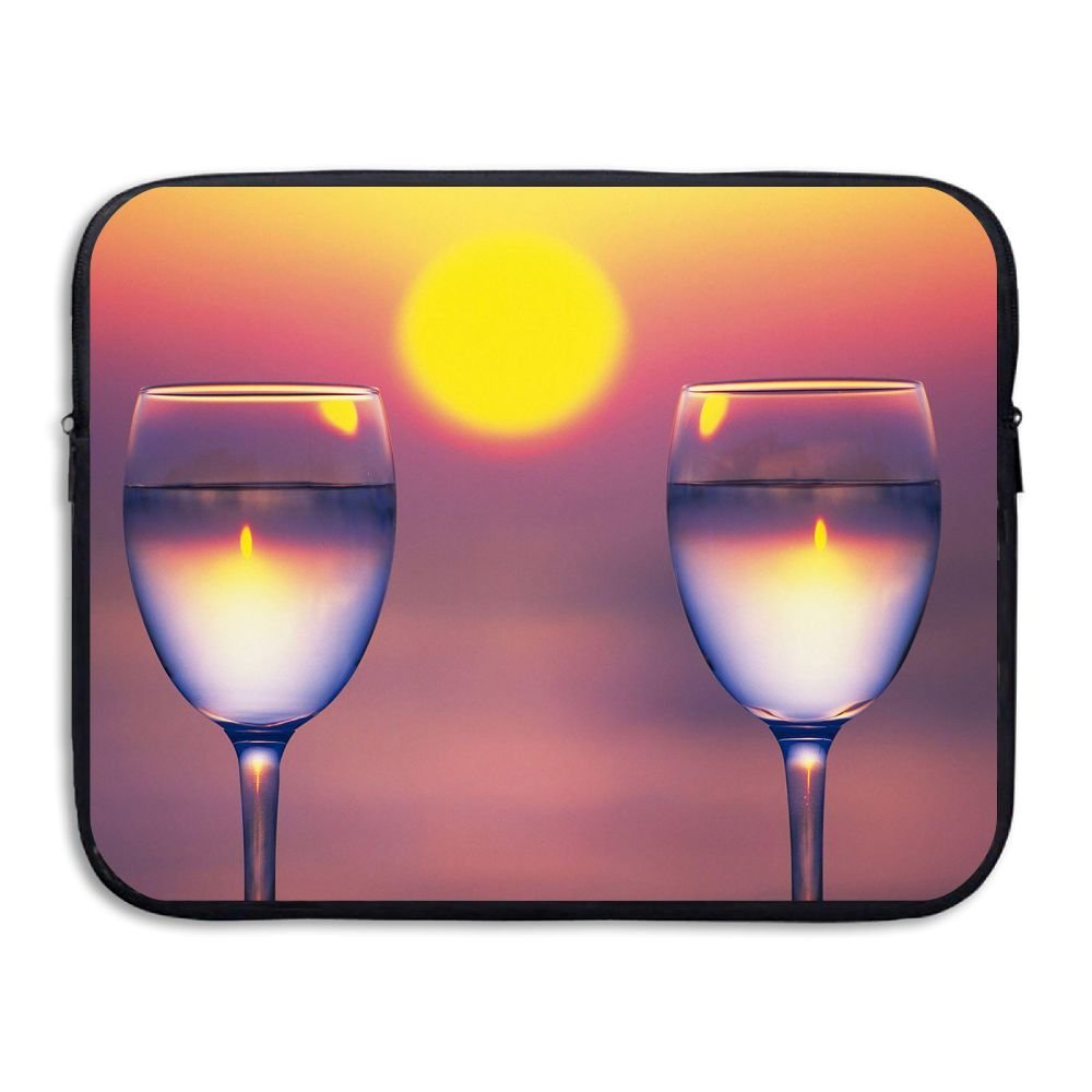 Mr.Roadman Laptop Sleeve Bag Two Wine Glass Sunset Briefcase Sleeve Bags Cover Computer Liner Case Waterproof Computer Portable Bags
