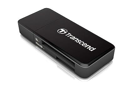 Transcend RDF5 - Lector de Tarjetas conector USB tipo A, USB 3.1 Gen 1, ranura SD y microSD, Negro