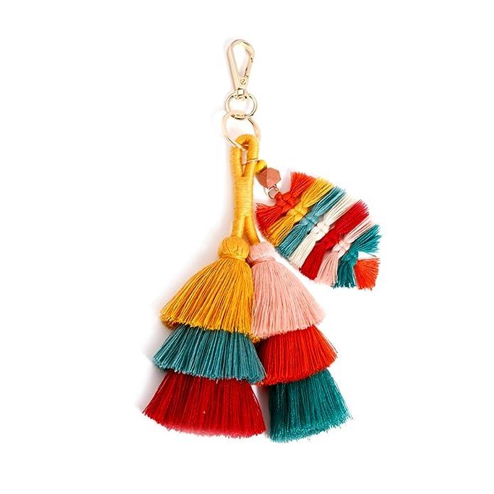Amazon.com: Coloridos llaveros borla decoraciones para ...
