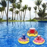 Inflatable Drink Holder, 12 PCS 8 Inches Donuts