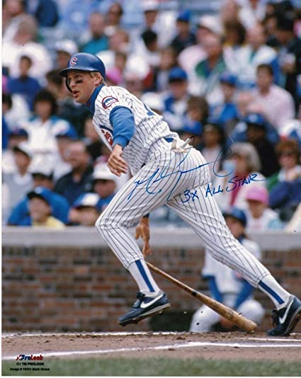 Mark Grace Chicago Cubs 3 X All Star Action Autographed Signed 8x10