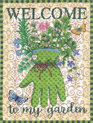 Janlynn Cross Stitch Kit Gardener's Glove -  Spectrum Crafts Janlynn, JLN18.100
