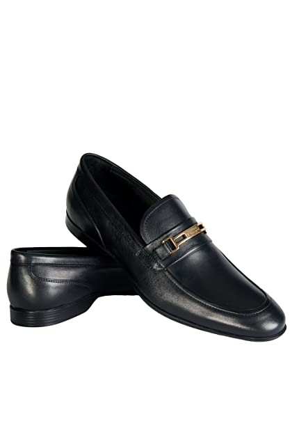 Versace - Mocasines para hombre, color negro, talla 11 UK / 45 EU: Amazon.es: Zapatos y complementos