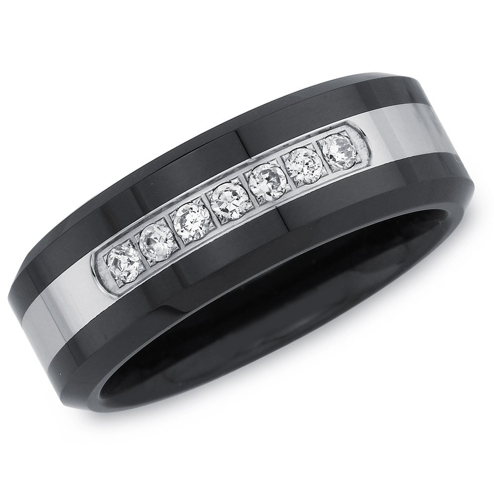 Mens 1/6ct Diamond Wedding Band